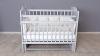 Кроватка для новорожденного Милана (маятник; цв. серый) фото мни (0)