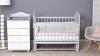 Кроватка для новорожденного Мишка (маятник; цв. серый) фото мни (1)
