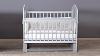 Кроватка для новорожденного Мишка (маятник; цв. серый) фото мни (0)