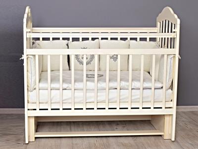 Кроватка для новорожденного Мишка (маятник) слон. кость фото