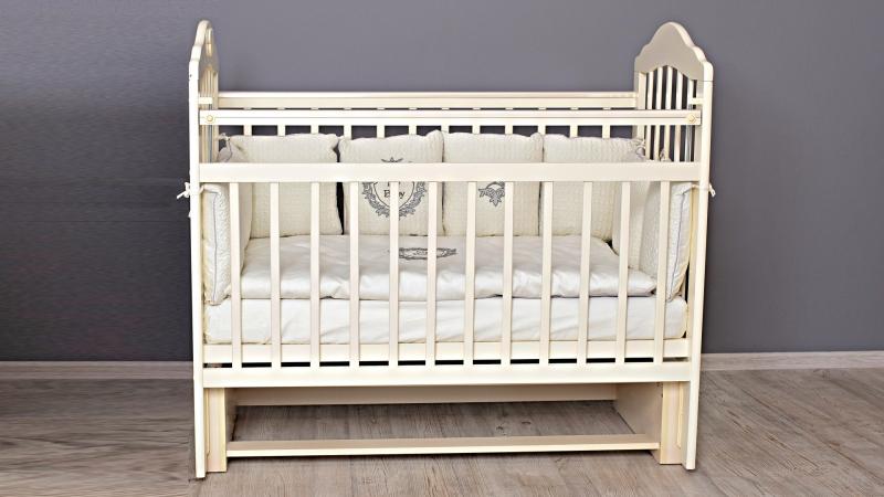 Кроватка для новорожденного Мишка (маятник; цв. слон.кость) фото (0)