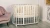 Кроватка для новорожденного Мия 7 в 1 (цв. белый) фото мни (1)