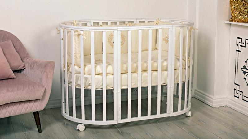 Кроватка для новорожденного Мия 7 в 1 (цв. белый) фото (1)