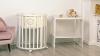 Кроватка для новорожденного Мия 7 в 1 (цв. белый) фото мни (0)