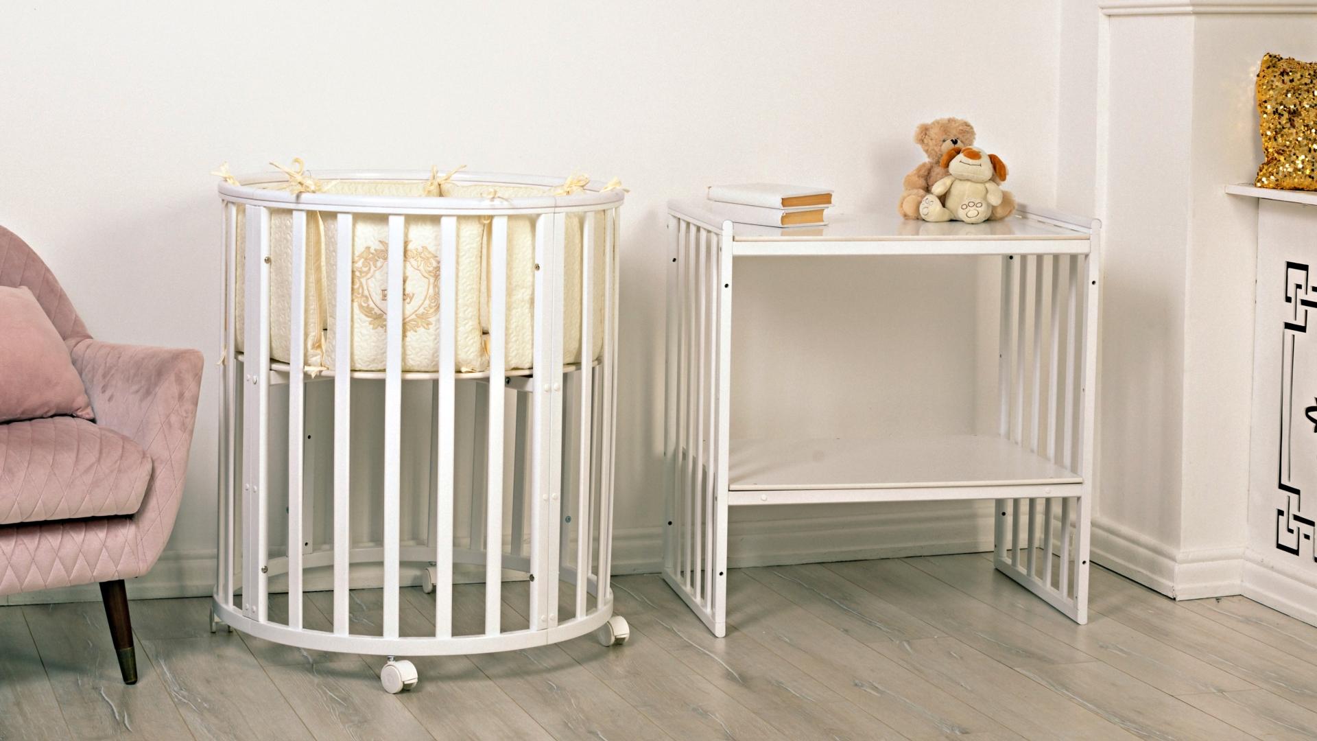 Кроватка для новорожденного Мия 7 в 1 (цв. белый) фото FullHD (0)