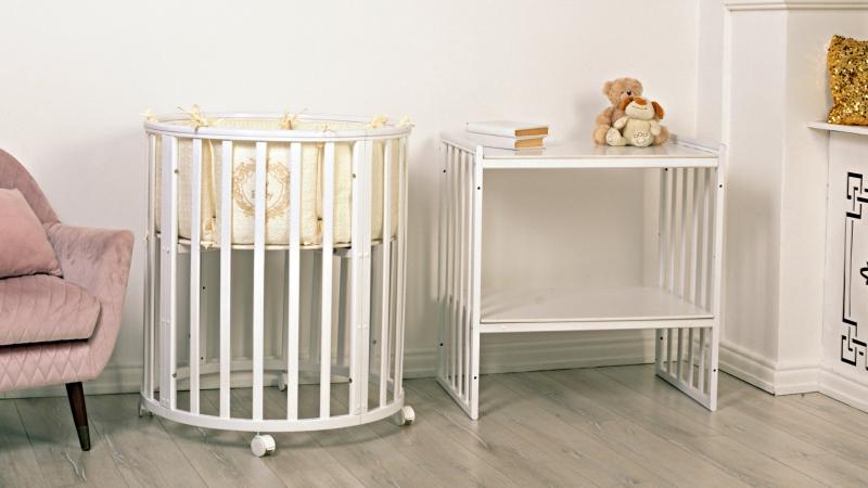 Кроватка для новорожденного Мия 7 в 1 (цв. белый) фото (0)