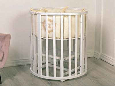 Кроватка для новорожденного Мия 7 в 1 (маятник; цв. белый) фото