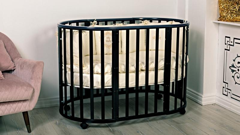 Кроватка для новорожденного Мия 7 в 1 (цв. венге) фото (1)