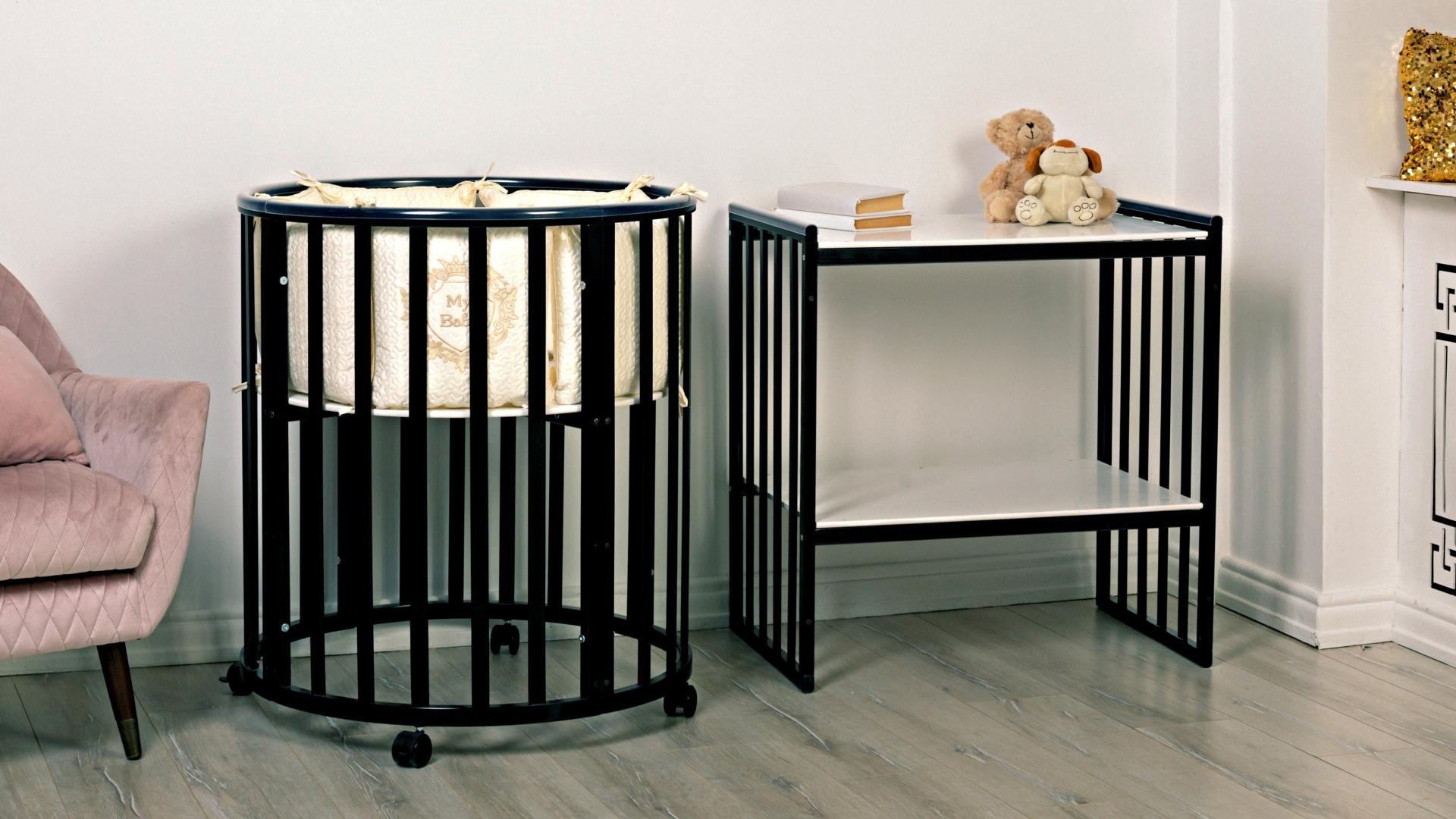 Кроватка для новорожденного Мия 7 в 1 (цв. венге) фото FullHD (0)
