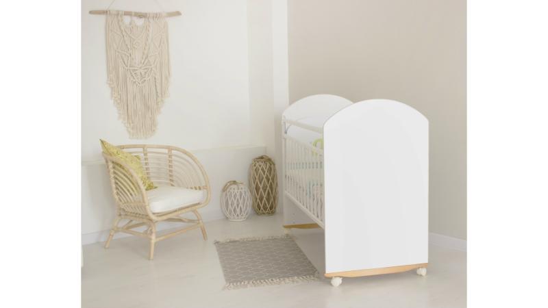 Кроватка для новорожденного Непоседа (качалка; цв. белый) фото (2)