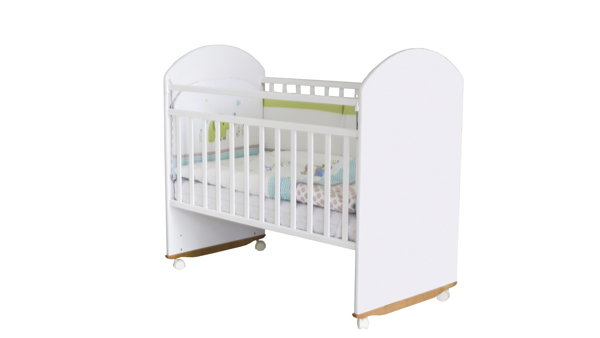 Кроватка для новорожденного Непоседа (качалка; цв. белый) фото FullHD (0)