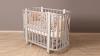 Кроватка для новорожденного Персона (маятник; цв. серый/белый) фото мни (1)