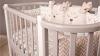 Кроватка для новорожденного Персона (маятник; цв. серый/белый) фото мни (2)