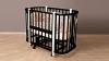 Кроватка для новорожденного Персона (маятник; цв. венге/белый) фото мни (1)