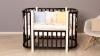 Кроватка для новорожденного Персона (маятник; цв. венге/белый) фото мни (2)