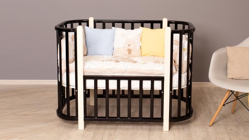 Кроватка для новорожденного Персона (маятник; цв. венге/белый) фото (2)