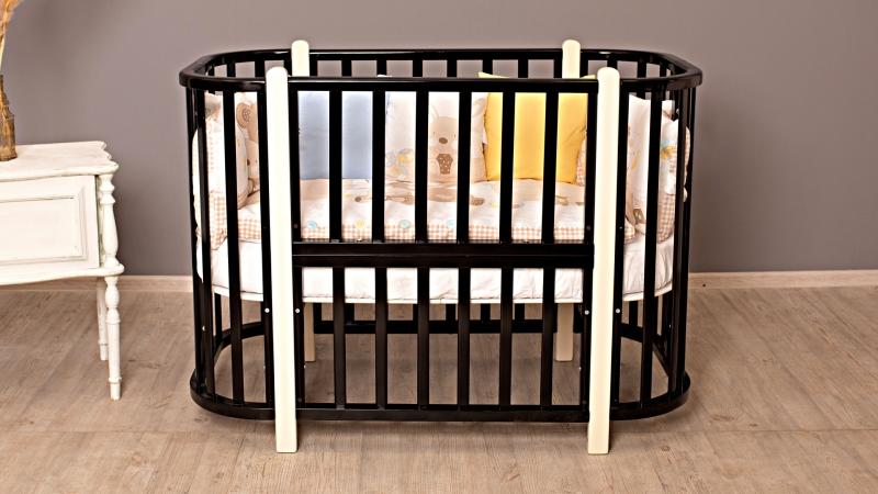 Кроватка для новорожденного Персона (маятник; цв. венге/белый) фото (0)