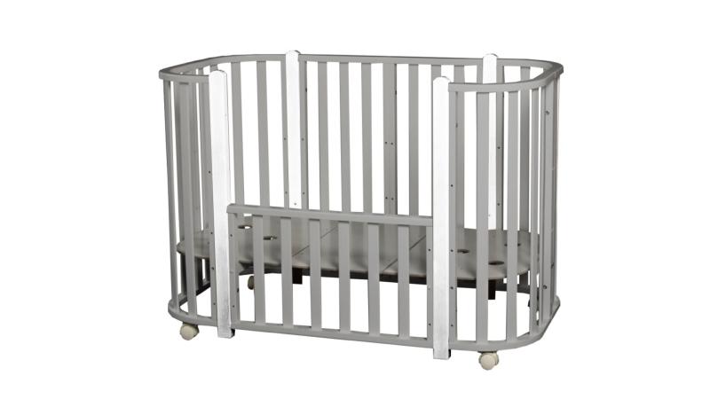 Кроватка для новорожденного Персона (цв. серый/белый) фото (2)