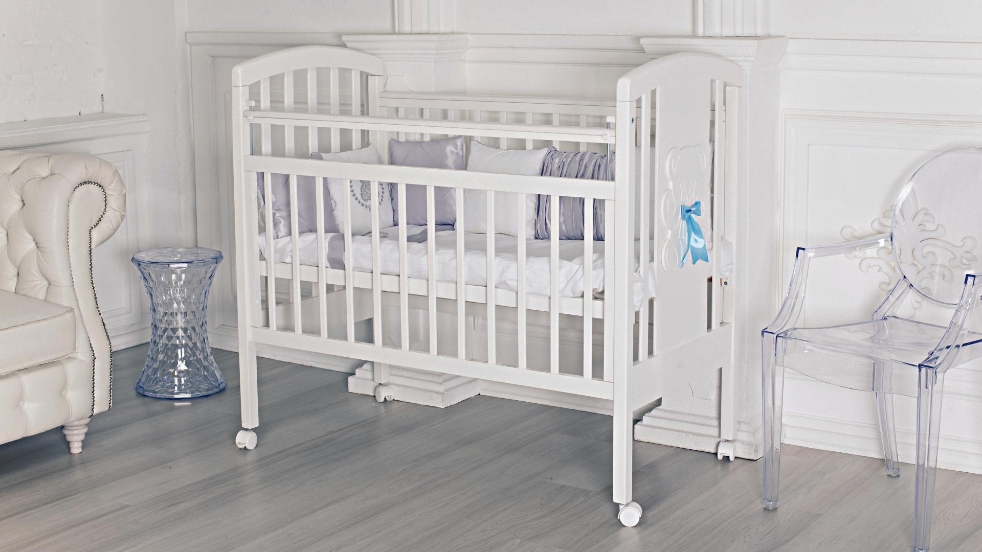 Кроватка для новорожденного Принц (цв. белый) фото FullHD (0)