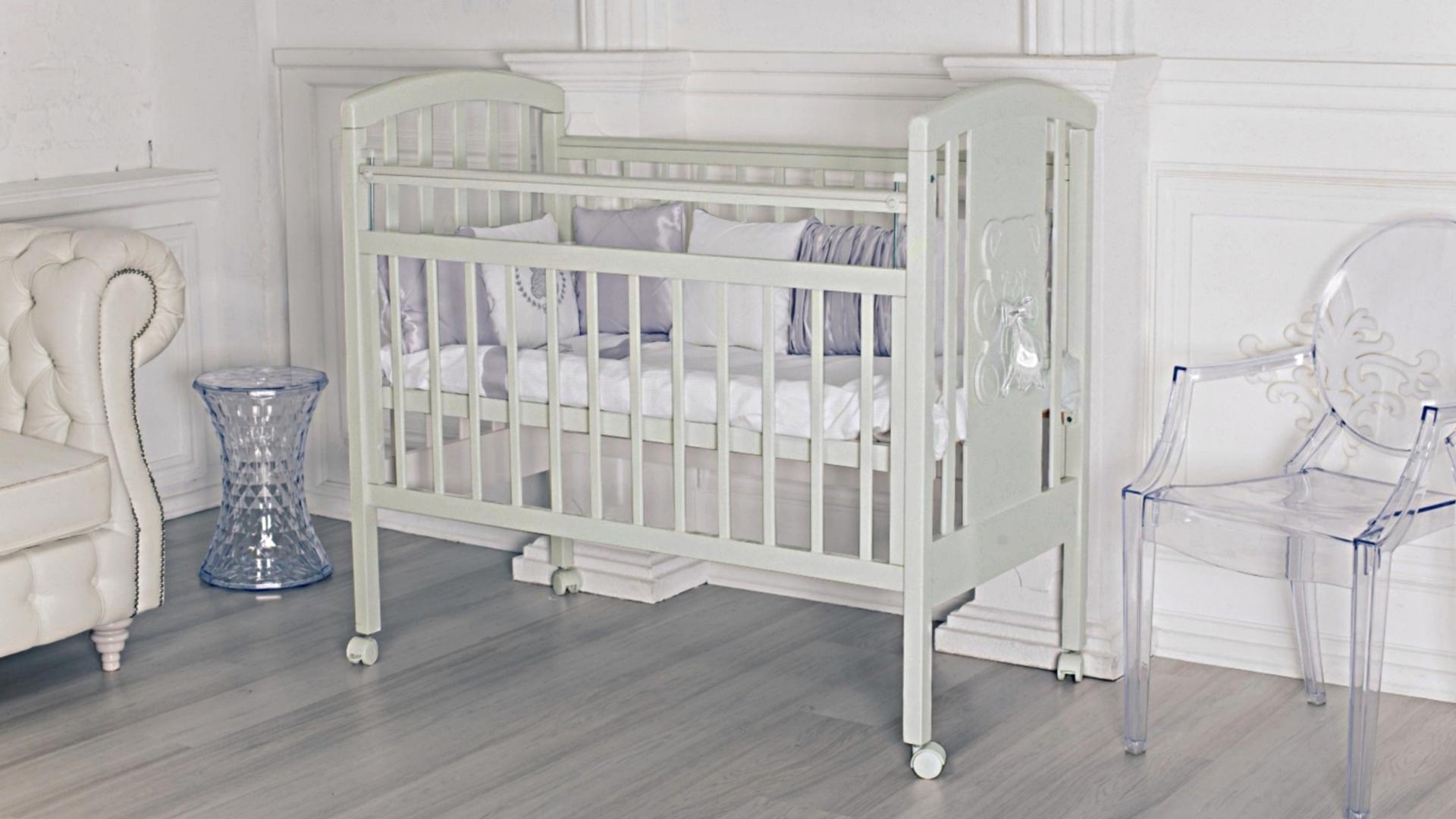 Кроватка для новорожденного Принц (цв. серый) фото FullHD (0)