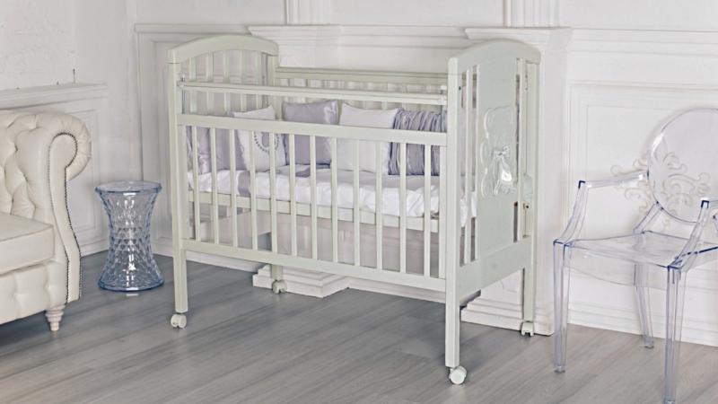 Кроватка для новорожденного Принц (цв. серый) фото (0)