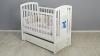 Кроватка для новорожденного Принц (маятник, ящик; цв. белый) фото мни (1)