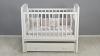 Кроватка для новорожденного Принц (маятник, ящик; цв. белый) фото мни (0)