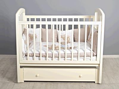 Кроватка для новорожденного Принц (маятник, с ящиком) слон. кость фото