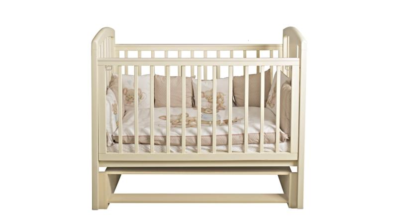 Кроватка для новорожденного Принц (маятник; цв. слон.кость)  фото (2)