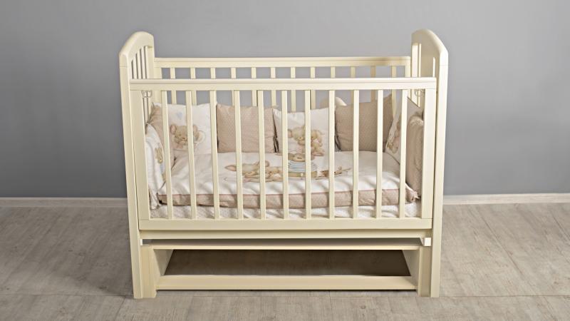 Кроватка для новорожденного Принц (маятник; цв. слон.кость)  фото (0)