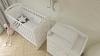 Кроватка для новорожденного Сказка (маятник, ящик; цв. белый) с принтом фото мни (1)