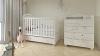 Кроватка для новорожденного Сказка (маятник, ящик; цв. белый) с принтом фото мни (2)