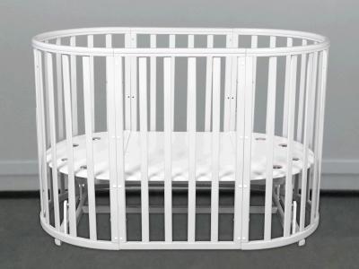 Кроватка для новорожденного Соня 8 в 1 (маятник; цв. белый) фото