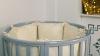 Кроватка для новорожденного Соня 8 в 1 (маятник; цв. серый) элит фото мни (1)