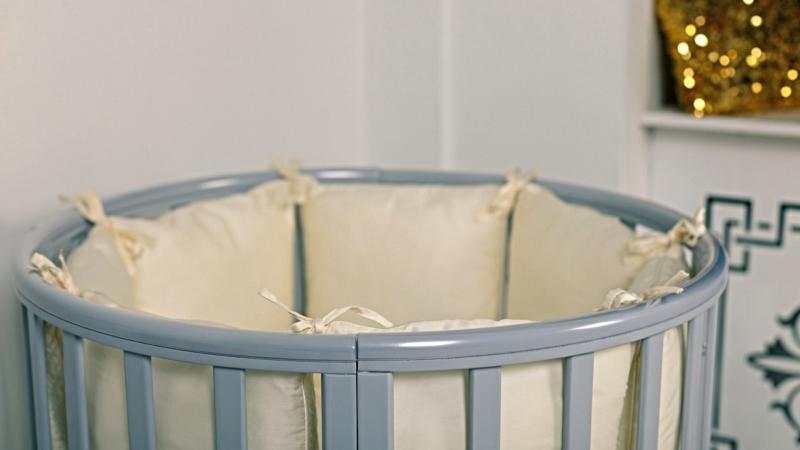 Кроватка для новорожденного Соня 8 в 1 (маятник; цв. серый) элит фото (1)