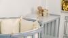 Кроватка для новорожденного Соня 8 в 1 (маятник; цв. серый) элит фото мни (2)
