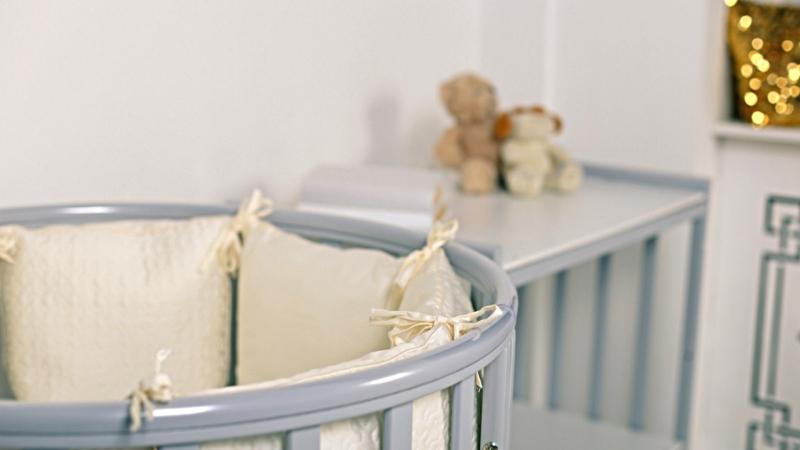 Кроватка для новорожденного Соня 8 в 1 (маятник; цв. серый) элит фото (2)