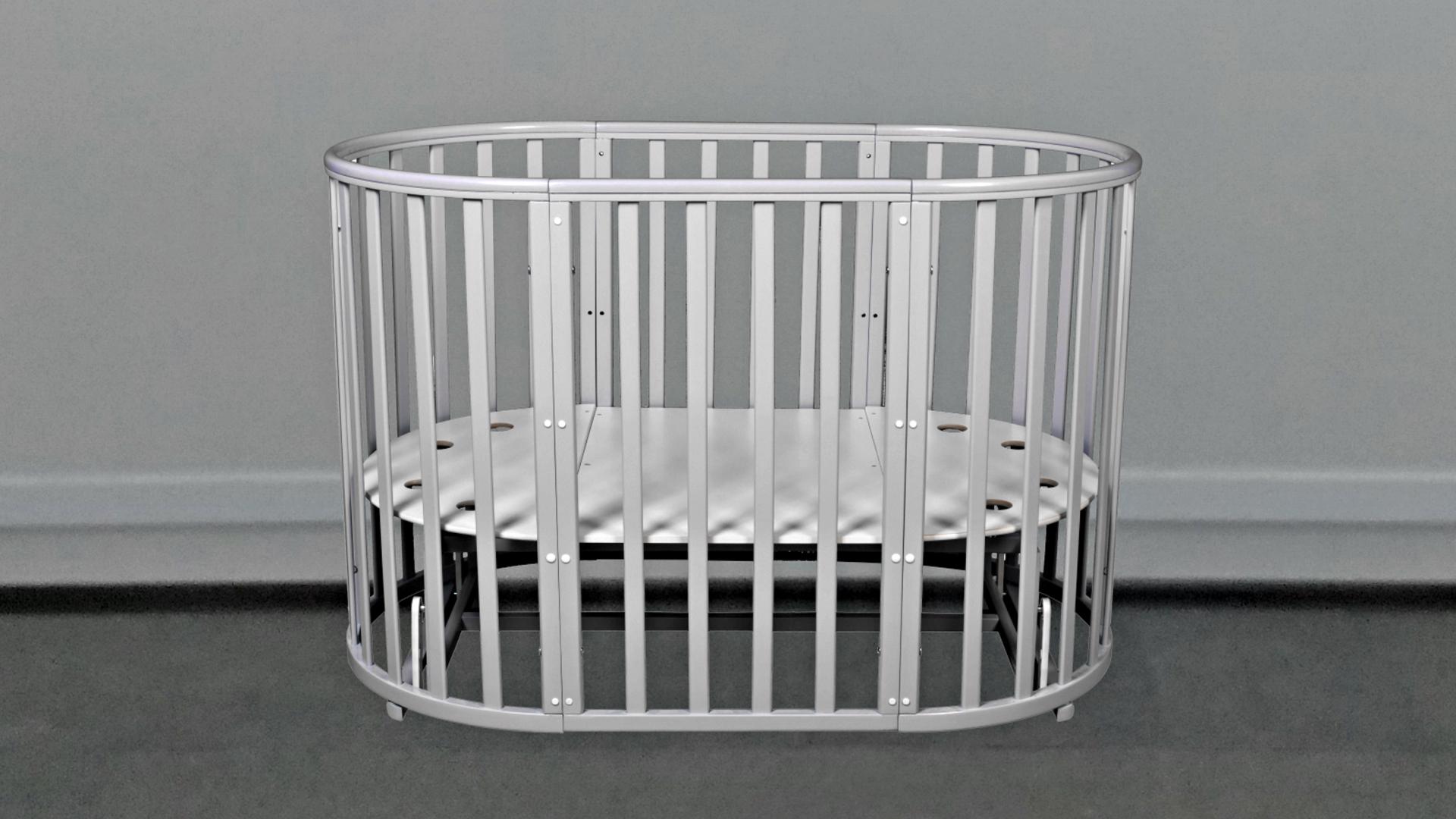 Кроватка для новорожденного Соня 8 в 1 (маятник; цв. серый) элит фото FullHD (0)