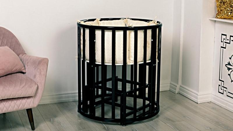 Кроватка для новорожденного Соня 8 в 1 (маятник; цв. венге) фото (3)