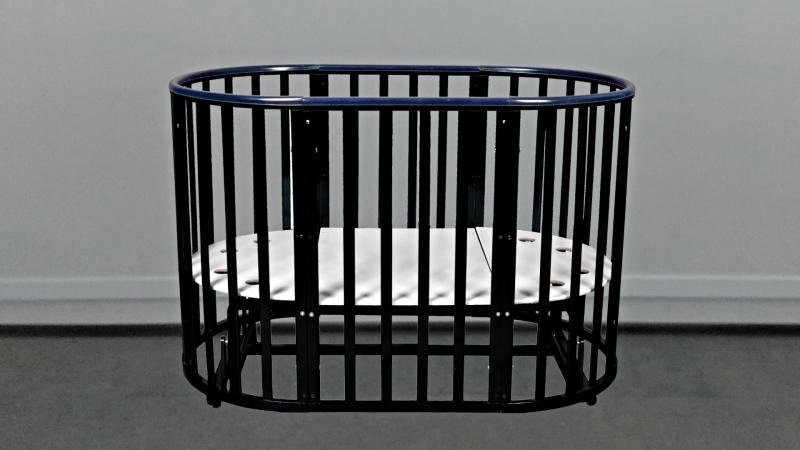 Кроватка для новорожденного Соня 8 в 1 (маятник; цв. венге) фото (0)
