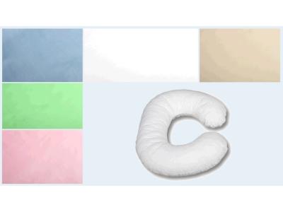 Наволочка на подушку для беременных Сатиновая формы C фото