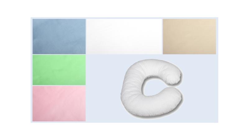 Наволочка на подушку для беременных Сатиновая формы C фото (0)