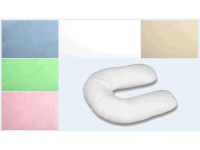 Наволочка на подушку для беременных Сатиновая формы U280 фото