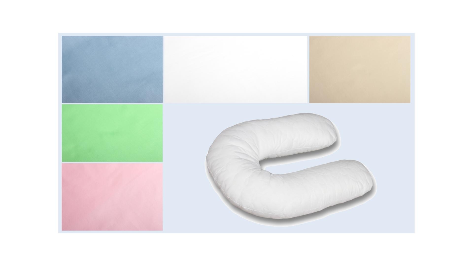 Наволочка на подушку для беременных Сатиновая формы U280 фото FullHD (0)