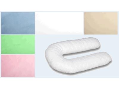 Наволочка на подушку для беременных Сатиновая формы U340 фото