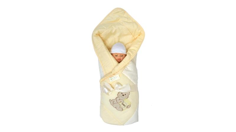В кроватку новорожденного Одеяло лоскутное (жёлтое) фото (1)