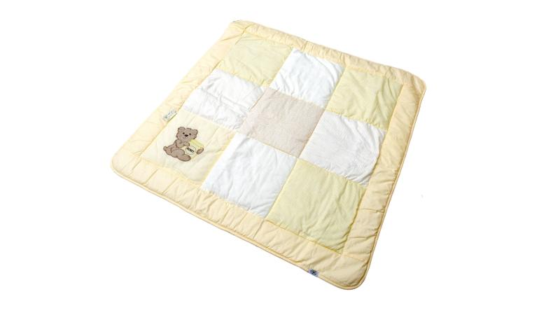 В кроватку новорожденного Одеяло лоскутное (жёлтое) фото (2)