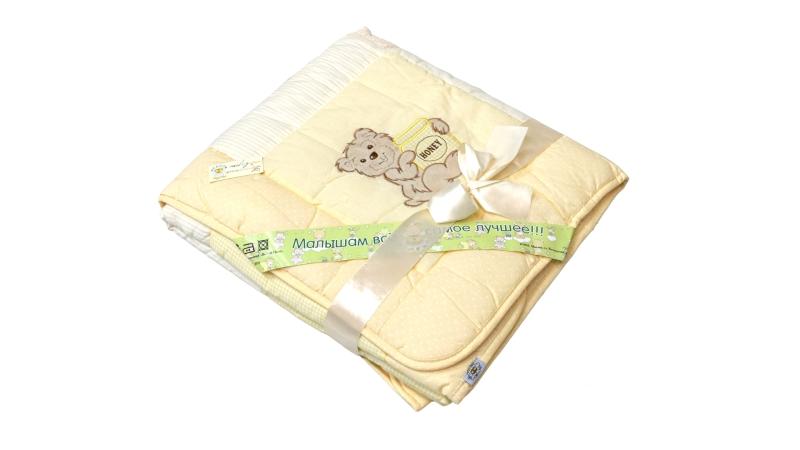 В кроватку новорожденного Одеяло лоскутное (жёлтое) фото (3)