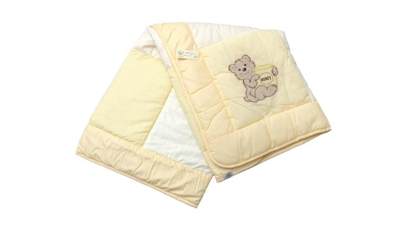 В кроватку новорожденного Одеяло лоскутное (жёлтое) фото (0)