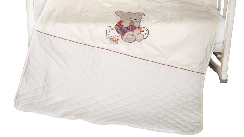 В кроватку новорожденного Покрывало-пододеяльник Мишка на бревнышке фото (2)